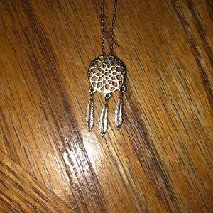 NWOT Gold Mini Dreamcatcher necklace